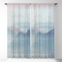 Mountains Sheer Curtain