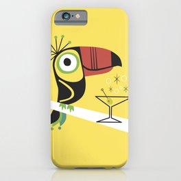Swank Mid Century Modern Toucan Tiki Bird With Martini iPhone Case
