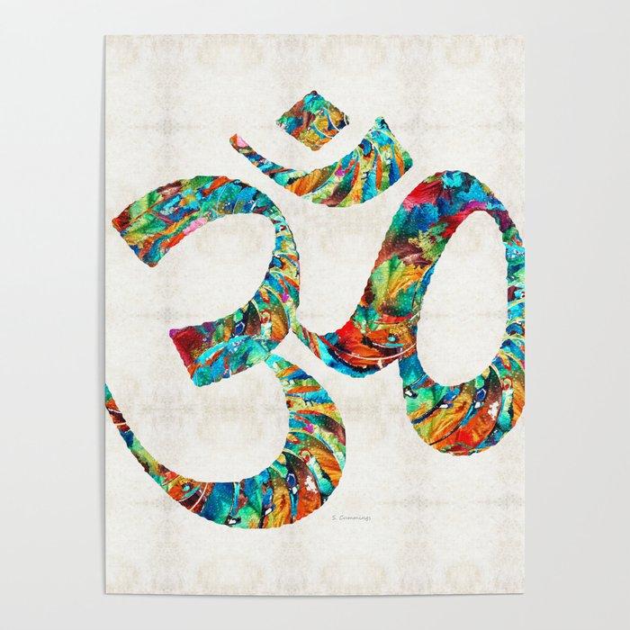 Colorful Om Symbol - Sharon Cummings Poster