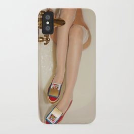 The queen is thirsty. Really, really thirsty iPhone Case