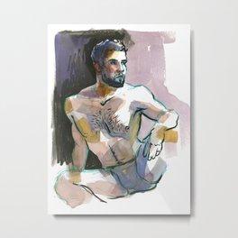 RYAN, Semi-Nude Male by Frank-Joseph Metal Print