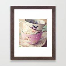 Tea Cup Stack Framed Art Print