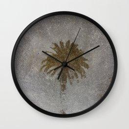 Rainy Day Palm Tree Wall Clock
