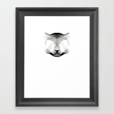 Cougar-shirt Framed Art Print