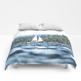 Calm Lake Sailboat Comforters