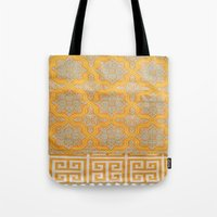 orange pattern Tote Bags featuring OrangE paTTern by ''CVogiatzi.