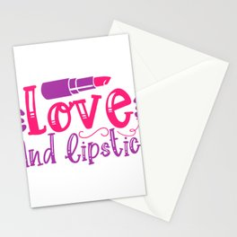 Make Up Makeup Love and Lipstick Stationery Cards