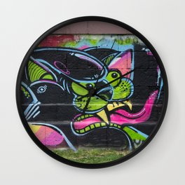 angry cat Wall Clock