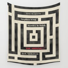 Shining, Stanley Kubrik, movie poster, Stephen King, horror book cover, horror movie poster, maze Wall Tapestry