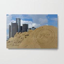Detroit Riverfront Metal Print