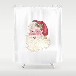 Vintage Santa Shower Curtain