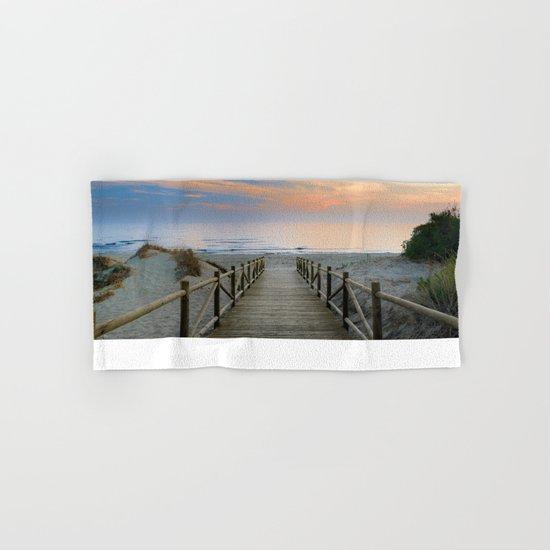 """The path..., the beach.... """"Artola"""". Hand & Bath Towel"""
