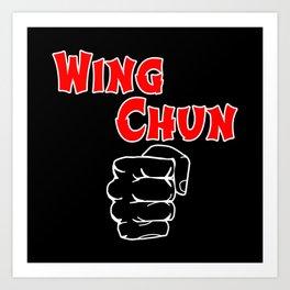 wing chun fist Art Print