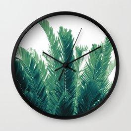 Tropical Leaves Dream #2 #tropical #decor #art #society6 Wall Clock