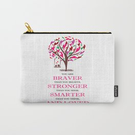 Winnie the Pooh Book Quote Carry-All Pouch