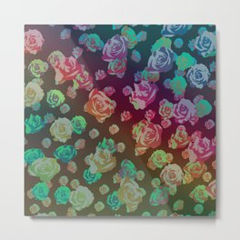 spectrum rainbow roses Metal Print