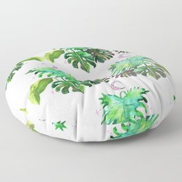 Philodendron Magic Floor Pillow