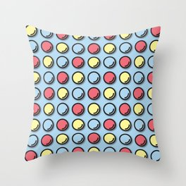 Blue Ball Throw Pillow