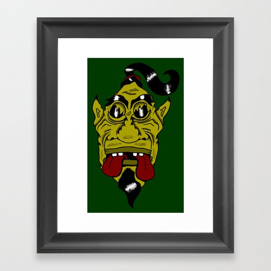 Chinese Demon, Shafted! Framed Art Print