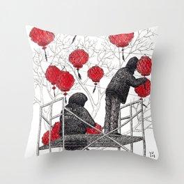 Chinese lanterns #1 Throw Pillow