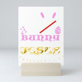 Easter Bunny No Bunny Loves Me Like Jesus Mini Art Print