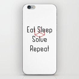 Eat Sleep Solve Cube Repeat Speed Cubing iPhone Skin