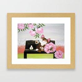 Winter Cat Framed Art Print