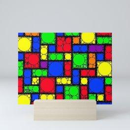 Circle Squares Mini Art Print