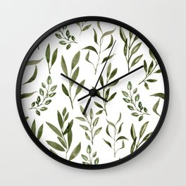Eucalyptus - green leaves Wall Clock