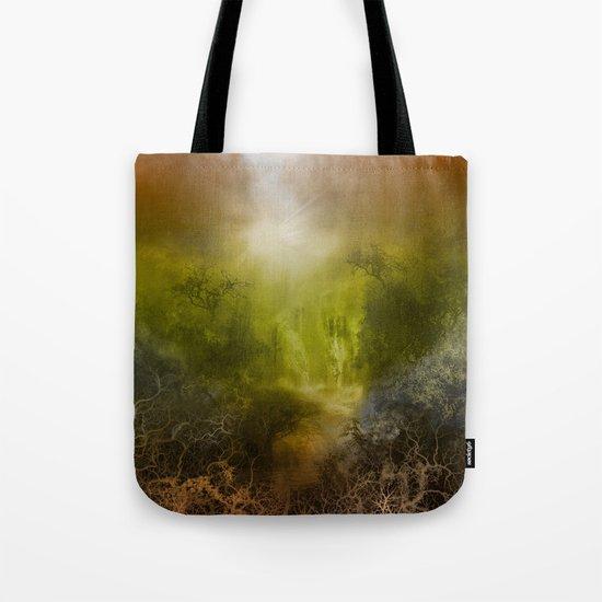 gold forest landscape Tote Bag