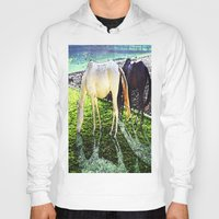 horses Hoodies featuring horses by  Agostino Lo Coco
