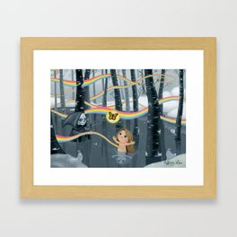I Follow Rainbows Framed Art Print