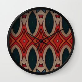 Marais Geometric hand drawn print Wall Clock