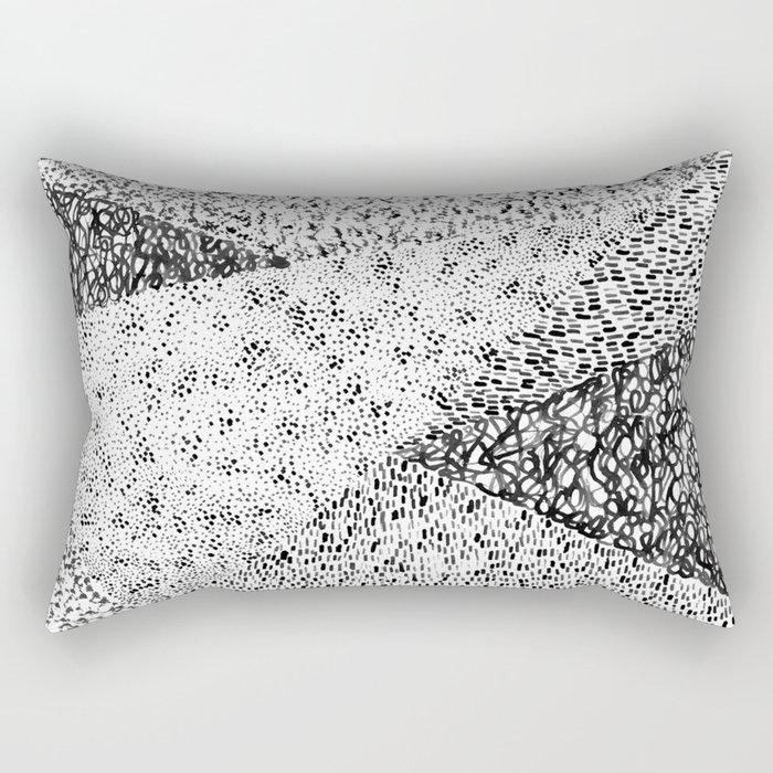 Black & White Form Rectangular Pillow