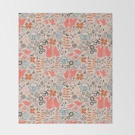 Mongolian Expanse Pattern Throw Blanket