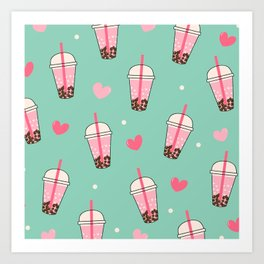 Boba Tea Love Art Print