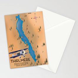 Thirlmere Reservoir Map Stationery Cards
