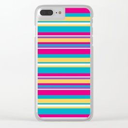 Epcot Color Stripes Clear iPhone Case