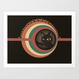 Cats planet Art Print