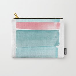 Minimalist Rose and Mint Print Carry-All Pouch