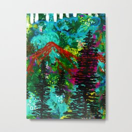 Go Wild - Mountain - Abstract painting Metal Print
