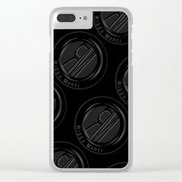 Riggo Monti Design #3 - Riggo Emblem Diagonal Pattern (Blk. Bkgrnd.) Clear iPhone Case