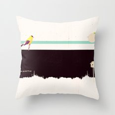 When the night falls quiet. Throw Pillow