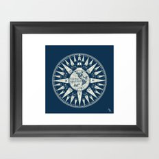 Sailors Compass Framed Art Print