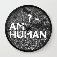 human Wall Clocks featuring ? Human by WeLoveHumans