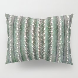 CACTUS NEEDLES PATTERN, closeup green succulent Pillow Sham