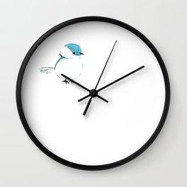 little plump birdie Wall Clock