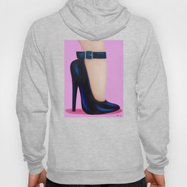 Pink Lady With Stiletto Heels Hoody