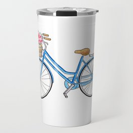 Bicycle art Bicycle print Bicycle wall art Bicycle poster Vintage bicycle art Travel Mug