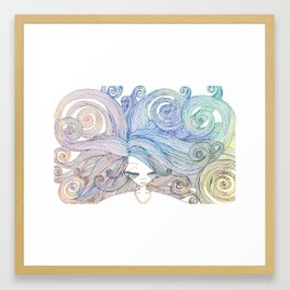 In My Head (Light Coloured) Framed Art Print